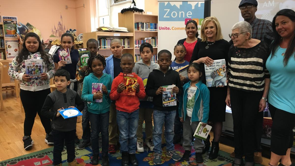 Rep. Maloney with Student Recipients of Book Program